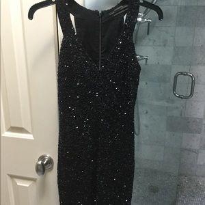 AllSaints black Sequin Cocktail Dress size 0